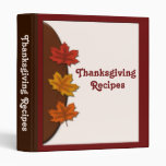 Fall Leaves Thanksgiving Recipes Binder