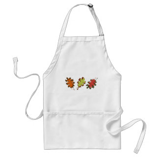 Fall Leaves Three Autumn Design Adult Apron