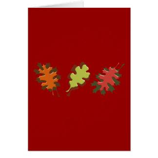 Fall Leaves Three Autumn Design Cards