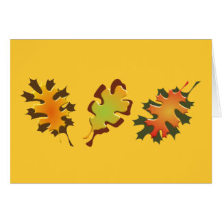 Fall Leaves Three Autumn Design Greeting Cards
