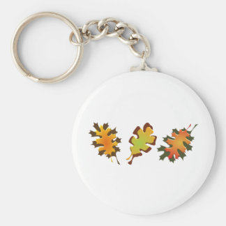 Fall Leaves Three Autumn Design Keychain