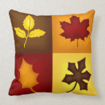 Fall Leaves Throw Pillow - Seasonal Home Decor