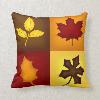 Fall Leaves Throw Pillow - Seasonal Home Decor
