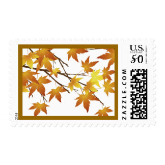 Fall Leaves Tree Branch Postage