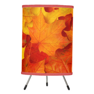 Fall Leaves Tripod Lamp