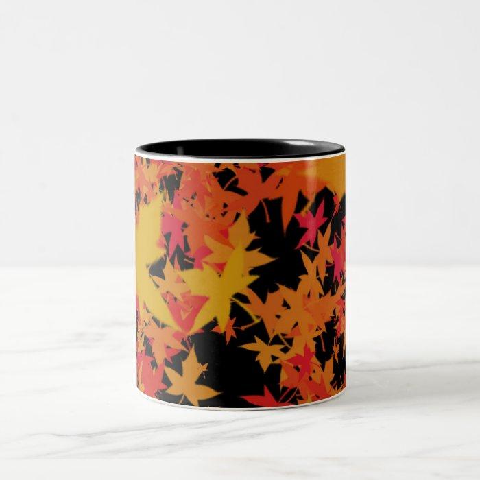 Fall leaves Two-Tone coffee mug
