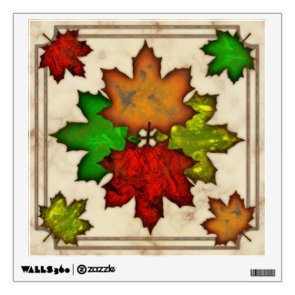 Fall Leaves Wall Stickers