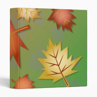 Fall Leaves Wallpaper 3 Ring Binder