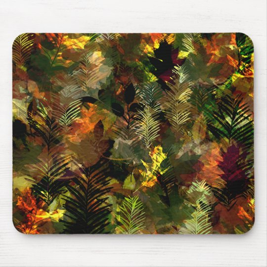 Fall Leaves Watercolour Mousepad
