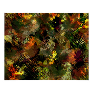 Fall Leaves Watercolour Poster
