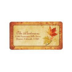 Fall Leaves Wedding Address Labels