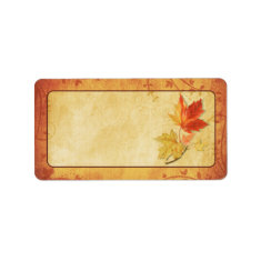 Fall Leaves Wedding Blank Address Labels