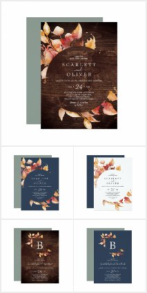 Fall Leaves Wedding Collection