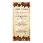 Fall Leaves Wedding Program Rack Cards