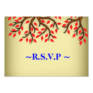 Fall Leaves Wedding RSVP Reply Cards