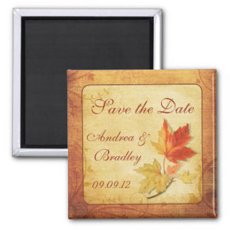 Fall Leaves Wedding Save the Date Magnet
