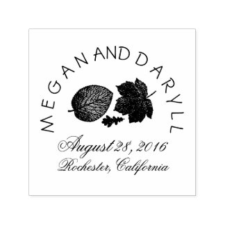 Fall Leaves Wedding Self-inking Stamp