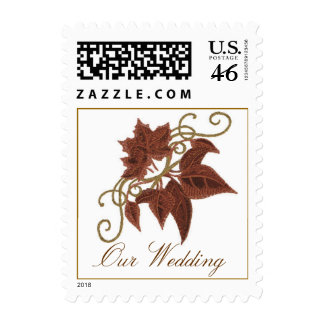 Fall Leaves Wedding Stamps