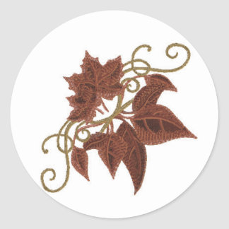 Fall Leaves Wedding Stickers