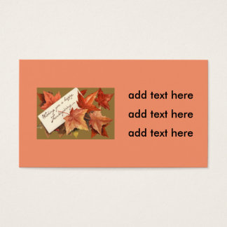 Fall Leaves Wishing You A Happy Thanksgiving Business Card