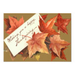 Fall Leaves Wishing You A Happy Thanksgiving Card