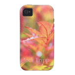 Fall Leaves with rain drops iPhone 4 Case