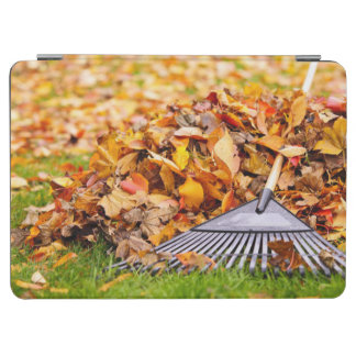 Fall Leaves With Rake iPad Air Cover