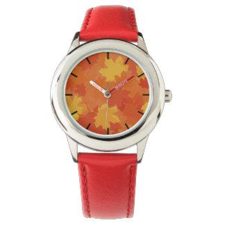 Fall Leaves Wrist Watch