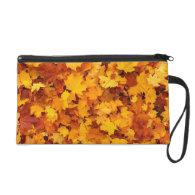 Fall Leaves Wristlet Purse