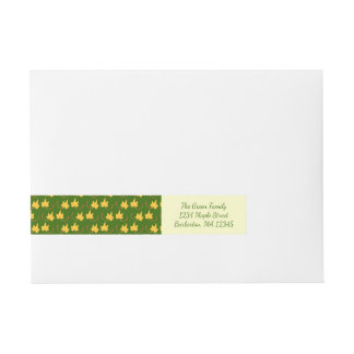 Fall Leaves: Yellow Leaf, Return Address Label