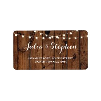 Fall Lights Wedding Return Address Label Chalk