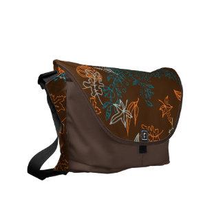 Fall Love Leaves ZenDoodle Pattern Art Messenger Bag
