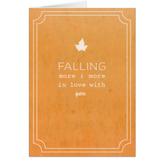 Fall Love Note Card