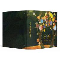 Fall Love Trees Wedding Monogram Photo Album(1.5