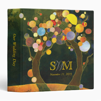 Fall Love Trees Wedding Monogram Photo Album 1 5 Binder