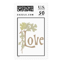 Fall Love Wedding Postage Stamp