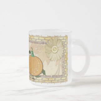 Fall Magic Folk Art Frosted Glass Coffee Mug