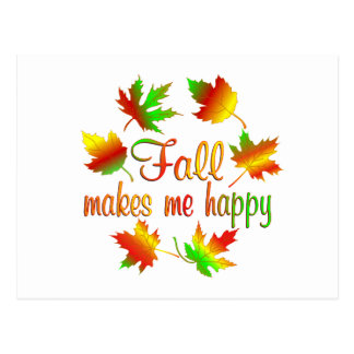 Fall makes me Happy Postcard