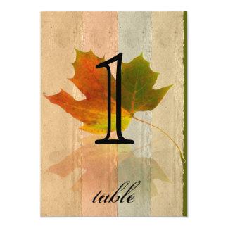 Fall Maple Leaf Anniversary Table Number Custom Invitations