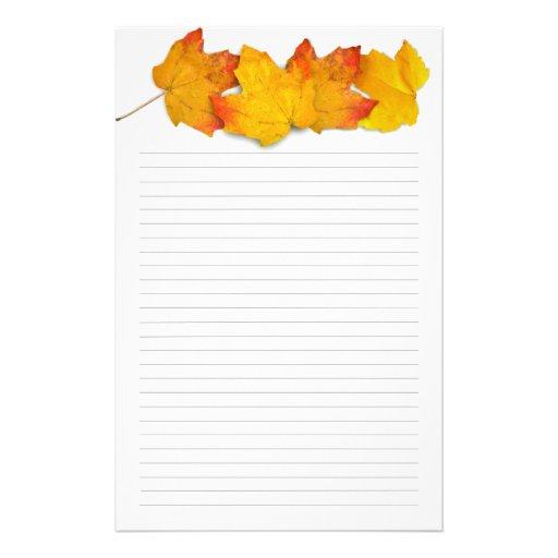 Leaf Bordered Paper