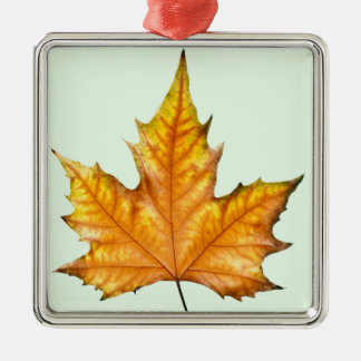 Fall Maple Leaf Metal Ornament