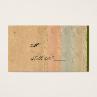 Fall Maple Leaf on Paper Wedding Place Cards