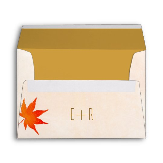 fall maple leaf wedding invitation a7 envelopes zazzle com