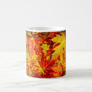 Fall maple leaves background coffee mug
