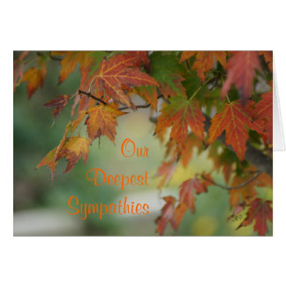 Fall Maple Leaves card- customize any occasion Greeting Card