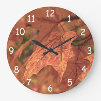 Fall Maple Leaves HDR Clock