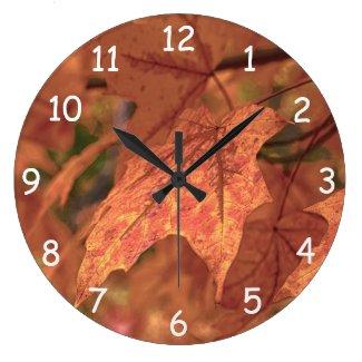 Fall Maple Leaves HDR Wallclocks