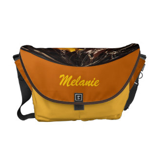 Fall Maple Leaves in Globe on a Pumpkin Background Courier Bag