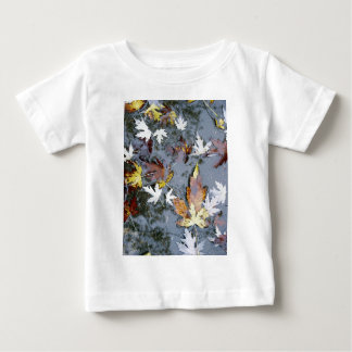 Fall Maple Leaves in Water Photo E.L.D. Baby T-Shirt