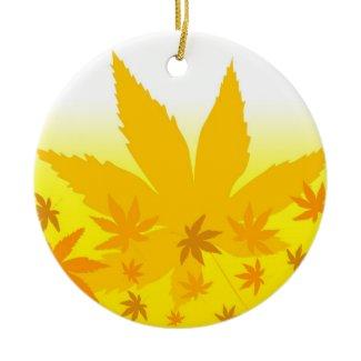 Fall maple leaves ornament